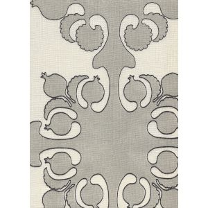 HC2000C-09 ARGENTINE Silver Charcoal on Ecru Quadrille Fabric
