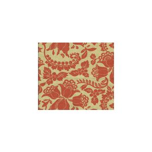 HC1300T-10 ARIEL Tomato on Tan Quadrille Fabric