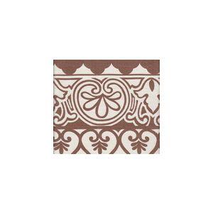 HC1800C-04 CARNAVALE BORDER New Tobacco on Cream Quadrille Fabric