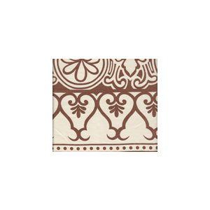 HC1800S-04 CARNAVALE BORDER New Tobacco on Silk Matka Quadrille Fabric