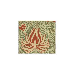 HC1270T-05 CONTESSA Terracotta Green Taupe Quadrille Fabric