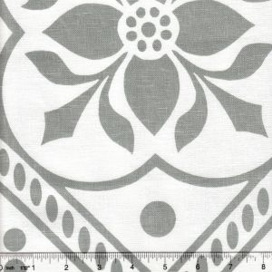 HC1460W-03 GLOUCHESTERSHIRE Gray on White Quadrille Fabric