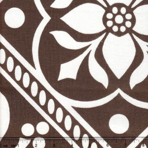 HC1465W-04 GLOUCHESTERSHIRE REVERSE Brown on White Quadrille Fabric