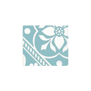 HC1465W-01 GLOUCHESTERSHIRE REVERSE Turquoise on White Quadrille Fabric