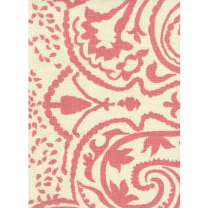 HC1880C-06 INDOCHINE PAISLEY Pink on Cream Quadrille Fabric