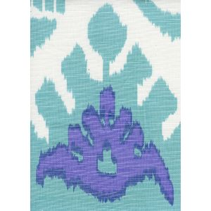 302830C-08W KAZAK Aqua Lilac on White Quadrille Fabric