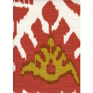302832F KAZAK Terracotta Mustard on Tint Quadrille Fabric