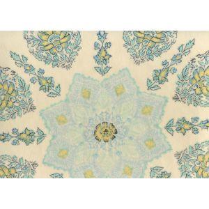 HC1490VV-01 PERSEPOLIS On Venetian Velvet Celeste on Cream Quadrille Fabric