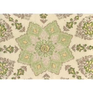 HC1490VV-02 PERSEPOLIS On Venetian Velvet Fig Taupe on Cream Quadrille Fabric