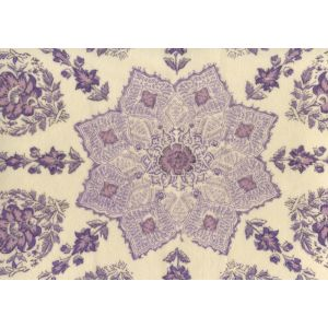 Hc1490vv 10 Persepolis On Venetian Velvet Purple Lilac On Cream Quadrille Fabric Discount Fabric And Wallpaper Online Store