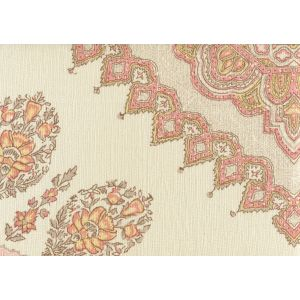 HC1490C-05 PERSEPOLIS Pink Taupe on Cream Linen Quadrille Fabric