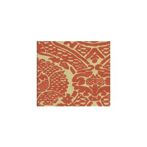 HC1280T-10 PRINCIPESSA Tomato on Tan Quadrille Fabric