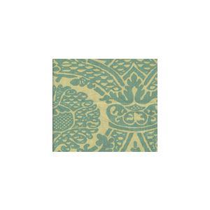 HC1280T-01 PRINCIPESSA Turquoise on Tan Quadrille Fabric