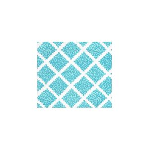 JF01000-08 SHANGHAI Turquoise on White Quadrille Fabric