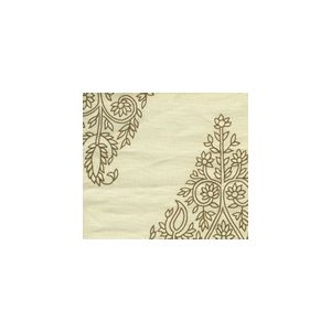 HC1480C-02 TAJ Tobacco on Cream Linen Quadrille Fabric