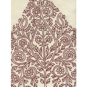 HC1480C-11 TAJ Wine on Ecru Quadrille Fabric