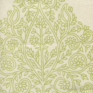HC1480C-07 TAJ Fig on Cream Linen Quadrille Fabric