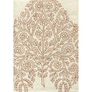 HC1480C-2N TAJ New Tobacco on Cream Quadrille Fabric