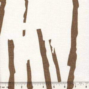 HC1240W ZEN Brown on Off White Quadrille Fabric