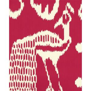 2430-52OWP BALI II Red On Off White Quadrille Wallpaper