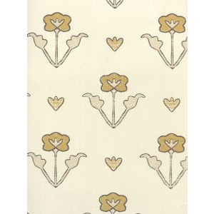 HC1995W-01OWP CLEMENTINE ALL OVER Camel Beige Brown On Off White Quadrille Wallpaper