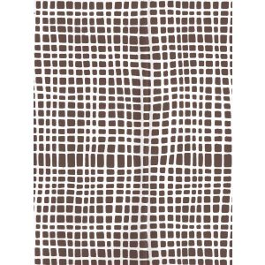 AP403-11PV CRISS CROSS Brown On White Vinyl Quadrille Wallpaper