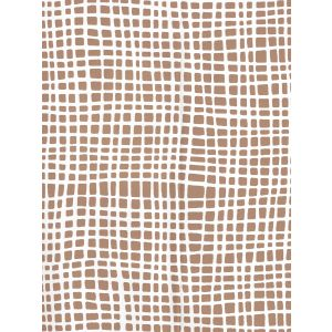 AP403-04PV CRISS CROSS Camel Ii On White Vinyl Quadrille Wallpaper