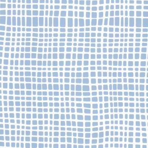 AP403-09PV CRISS CROSS Slate Blue On White Vinyl Quadrille Wallpaper