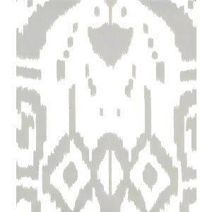 6460-16WP ISLAND IKAT Gray On White Quadrille Wallpaper