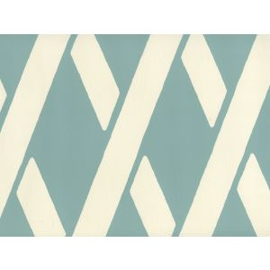 CP1050W-02 MONTECITO BAMBOO Turquoise On Off White Quadrille Wallpaper