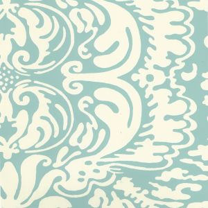 2335-03OWP SAN MARCO REVERSE Turquoise On Off White Quadrille Wallpaper