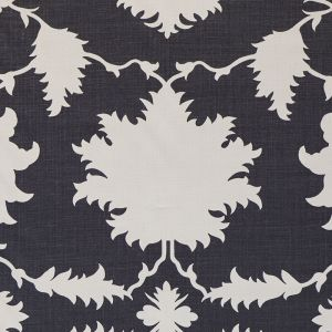 175035 GARDEN OF PERSIA Charcoal Schumacher Fabric