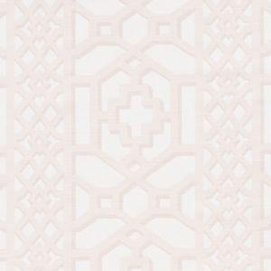 175743 ZANZIBAR TRELLIS MATTE Blush Schumacher Fabric
