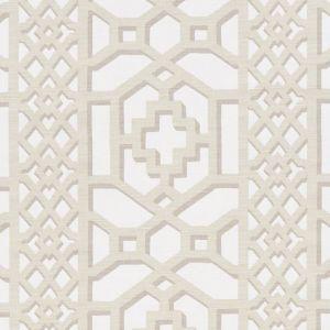175744 ZANZIBAR TRELLIS MATTE Sand Schumacher Fabric