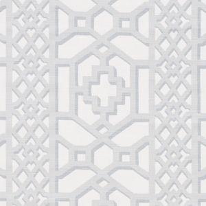 175745 ZANZIBAR TRELLIS MATTE Cloud Schumacher Fabric