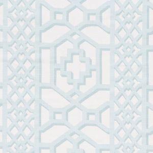 175746 ZANZIBAR TRELLIS MATTE Winter Mint Schumacher Fabric