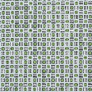 177862 MOTTLEY GRID Sky Putting Green Schumacher Fabric