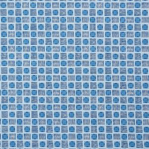 177863 MOTTLEY GRID Cottage Blue Schumacher Fabric