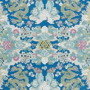 178050 MAGIC MOUNTAIN DRAGON Blue Schumacher Fabric