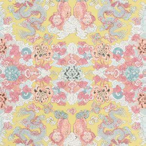 178052 MAGIC MOUNTAIN DRAGON Yellow Schumacher Fabric