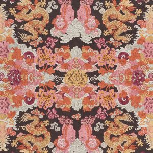 178053 MAGIC MOUNTAIN DRAGON Aubergine Schumacher Fabric