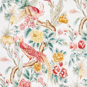 178161 MAJESTIC GARDEN Rose Celadon Schumacher Fabric