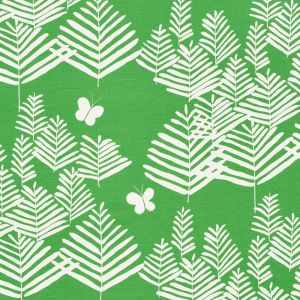 178230 FERN SILHOUETTE Green Schumacher Fabric