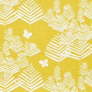 178231 FERN SILHOUETTE Yellow Schumacher Fabric