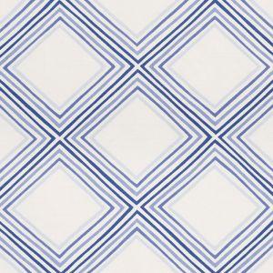 178271 SQUARE DANCE Blue Schumacher Fabric