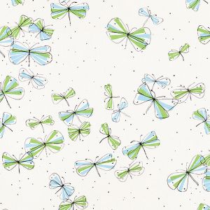 178280 MONARCH'S MARCH Sky Leaf Schumacher Fabric