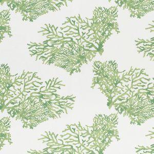 178291 GREAT BARRIER REEF II Green Schumacher Fabric