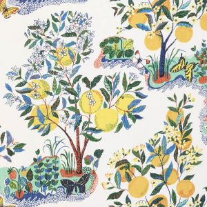 178350 CITRUS GARDEN SHEER Primary Schumacher Fabric