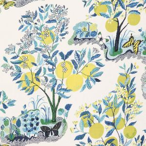 178351 CITRUS GARDEN SHEER Pool Schumacher Fabric