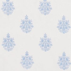 178372 ASARA FLOWER SHEER Blue Schumacher Fabric